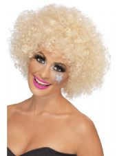 1970's Afro Wig In Blonde